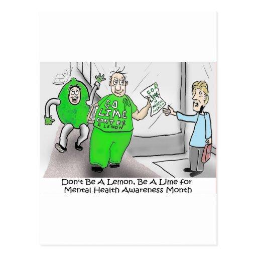 Mental health Month Go Lime Postcards