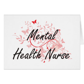 Mental Health Nurse Artistic Job Design with Butte Card