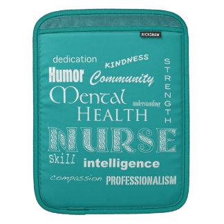 Mental Health Nurse-Attributes Aqua iPad Sleeves