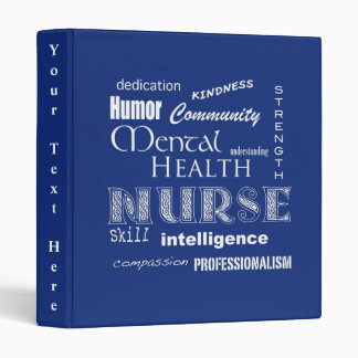 Mental Health Nurse-Attributes/Blueberry Vinyl Binders
