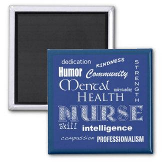 Mental Health Nurse Attributes-Blueberry Magnet