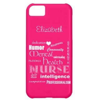 Mental Health Nurse-Attributes /Bubble Gum Pink iPhone 5C Case