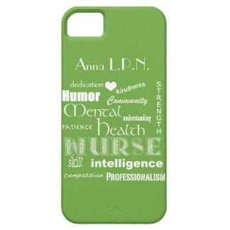 Mental Health Nurse-Attributes /Celery Green iPhone SE/5/5s Case