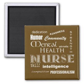 Mental Health Nurse Attributes-Chocolate Brown Magnet