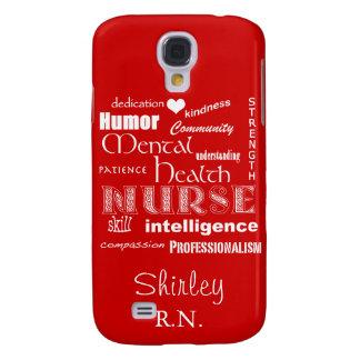 Mental Health Nurse-Attributes /Fire Engine Red Samsung Galaxy S4 Cover