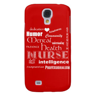 Mental Health Nurse-Attributes /Fire Red Galaxy S4 Cover