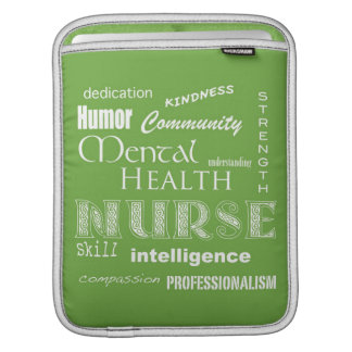 Mental Health Nurse-Attributes/Lime Green Sleeve For iPads