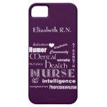 Mental Health Nurse-Attributes /Plum iPhone 5 Covers