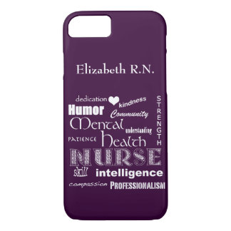 Mental Health Nurse-Attributes /Plum iPhone 7 Case