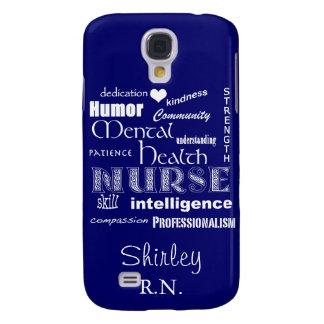 Mental Health Nurse-Attributes /Sapphire Blue Galaxy S4 Case