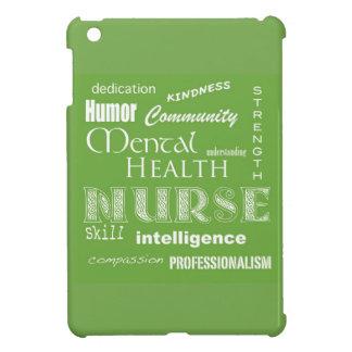 Mental Health Nurse Attributes+White Heart/Green Cover For The iPad Mini
