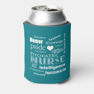 Mental Health Nurse-Attributes/White Text+heart Can Cooler