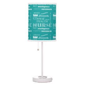 Mental Health Nurse Pride-Attributes/Aqua Blue Table Lamp