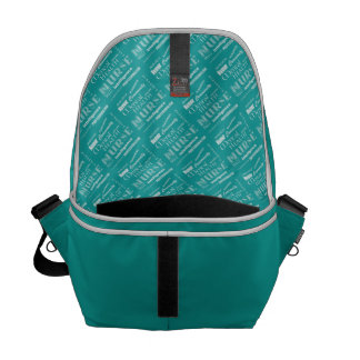 Mental Health Nurse Pride-Attributes/Aqua+Heart Courier Bag