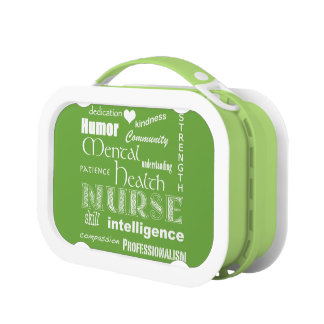 Mental Health Nurse Pride-Attributes/Lime Green Lunch Box