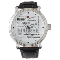 Mental Health Nurse Pride-Attributes/Red Heart Wristwatch