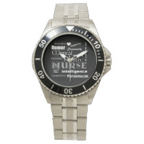 Mental Health Nurse Pride-Attributes/White Heart Wrist Watch