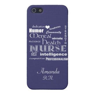 Mental Health Nurse Pride+Heart/Amethyst iPhone 5 Cover