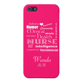 Mental Health Nurse Pride+Heart/Hot Pink Cover For iPhone SE/5/5s