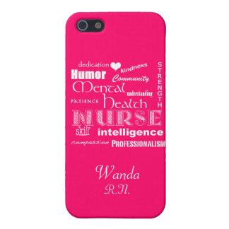 Mental Health Nurse Pride+Heart/Hot Pink iPhone SE/5/5s Case