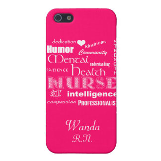Mental Health Nurse Pride+Heart/Hot Pink iPhone SE/5/5s Cover