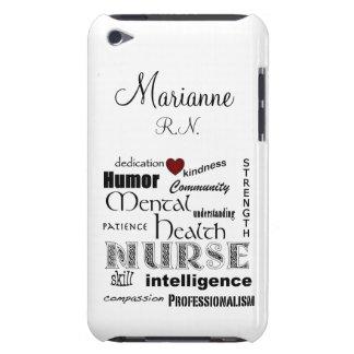 Mental Health Nurse Pride+Heart/Personalize Name iPod Case-Mate Case