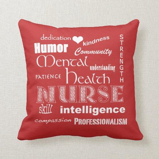 Mental Health Nurse Pride Throw Pillow