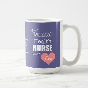 a7039ea942a Mental Health Nursing-I Care+Pink Heart Coffee Mug