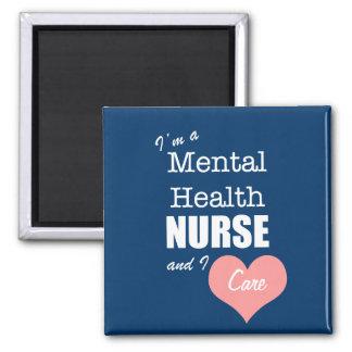 Mental Health Nursing-I Care+Pink Heart Magnet