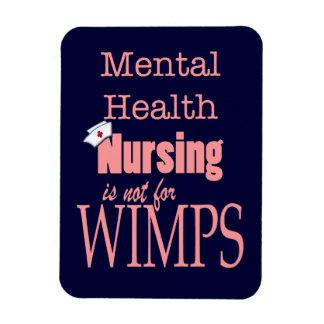 Mental Health Nursing-Not for Wimps+Nurse Cap/Pink Magnet