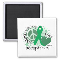Mental Health Peace Love Acceptance Magnet