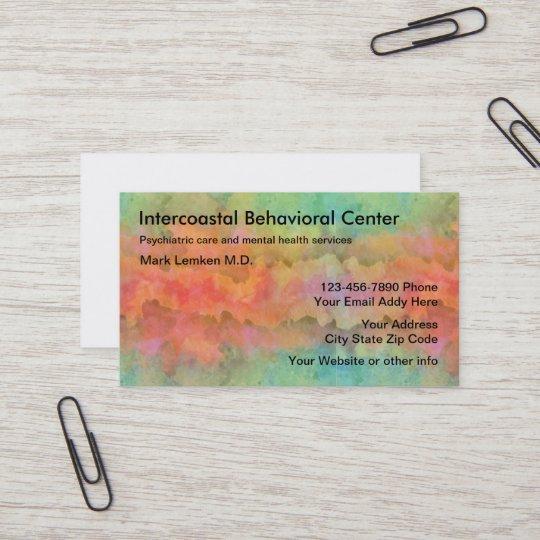 Mental Health Psychiatrist Office Business Card Zazzle