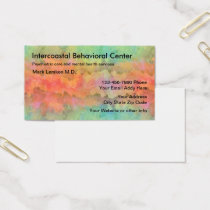 Mental Health Psychiatrist Office Business Card