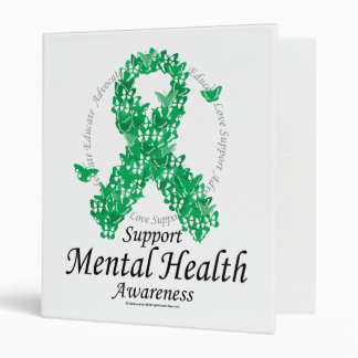Mental Health Ribbon of Butterflies Vinyl Binders