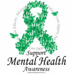 "Mental Health Ribbon of Butterflies Cutout<br><div class=""desc"">Mental Health Ribbon of Butterflies</div>"