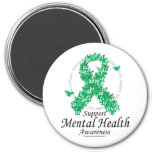 Mental Health Ribbon of Butterflies Magnets