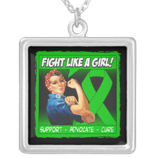 Mental Health Rosie Riveter - Fight Like a Girl Necklace