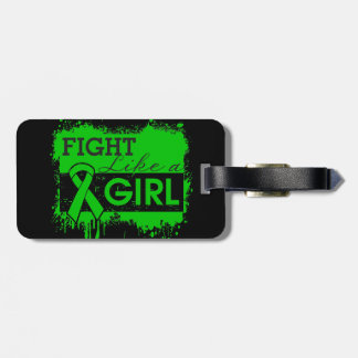 Mental Health Splatter Fight Like a Girl Luggage Tags