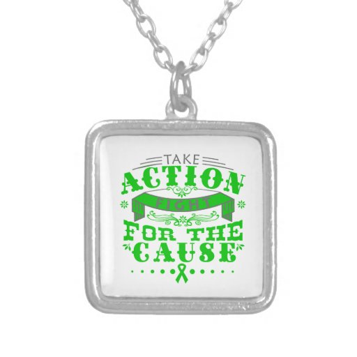 Mental Health Take Action Fight For The Cause Necklaces