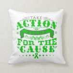 Mental Health Take Action Fight For The Cause Throw Pillows