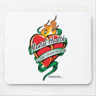 Mental Health Tattoo Heart Mouse Pad