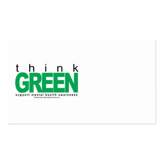 Mental Health Think Green Double-Sided Standard Business Cards (Pack Of 100)
