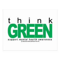Mental Health Think Green Postcard