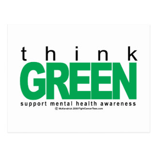 Mental Health Think Green Postcard