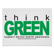 Mental Health Think Green Poster