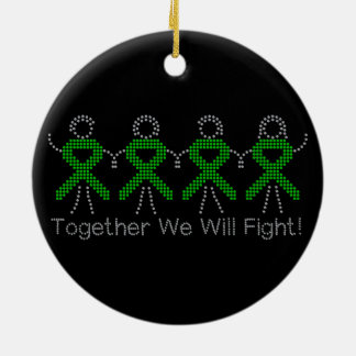 Mental Health Together We Will Fight Christmas Tree Ornament