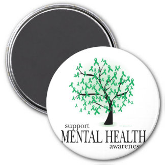 Mental Health Tree 3 Inch Round Magnet