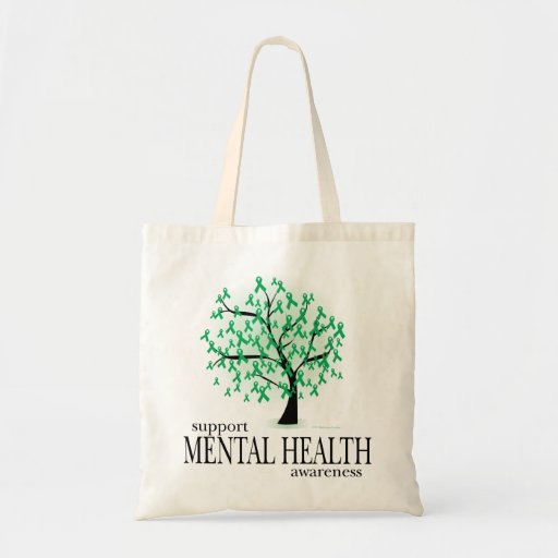 Mental Health Tree Tote Bag