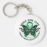 Mental Health Tribal Butterfly Key Chains