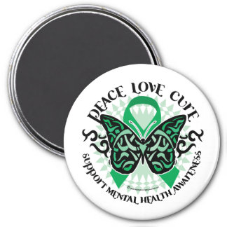 Mental Health Tribal Butterfly Magnet
